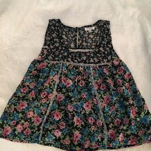 Floral tank top with beautiful details
